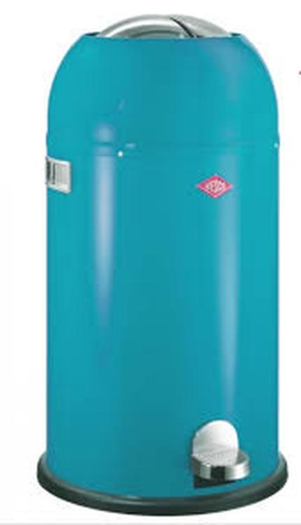 Wesco Kickmaster Rood 33 Liter.Turquoise 33 Liter